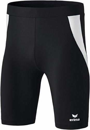 Erima Kinder Shorts Tight, Schwarz/Weiß, 152