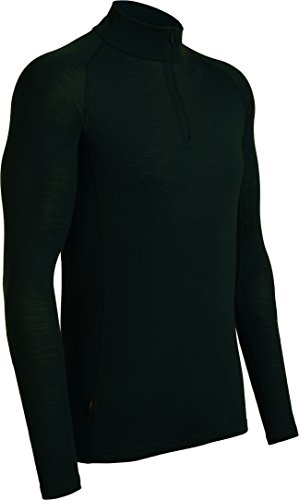 Icebreaker Herren Funktionsshirt Everyday LS Half Zip, Black, XL, 101259001