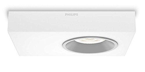 Philips InStyle Quine - Plafón con 1 foco, corriente alterna, LED, metal,...