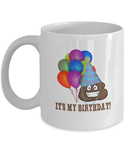 funny cat Kacke Kaffeetassen Lustig - es ist Mein Geburtstag - Emoji-Party-Rückkehr-Geschenke - 11 Unze-Keramik-Schale