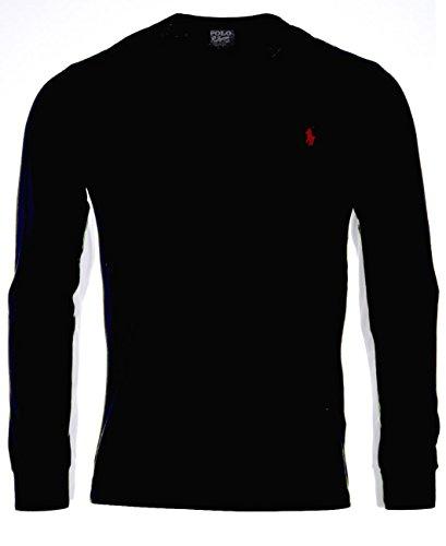 Polo Ralph Lauren Herren Longsleeve Langarm T-Shirt - Custom Fit - Rundhals (Größentabelle Polo Ralph Lauren)