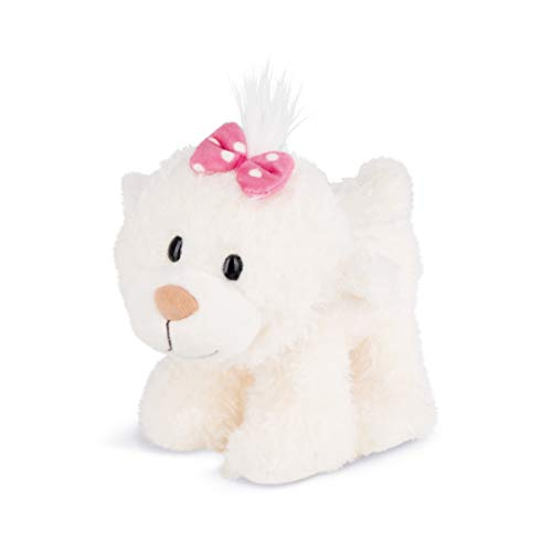 Nici 43347 Kuscheltier kleine Bären-Schwester stehend, 19 cm, weiß