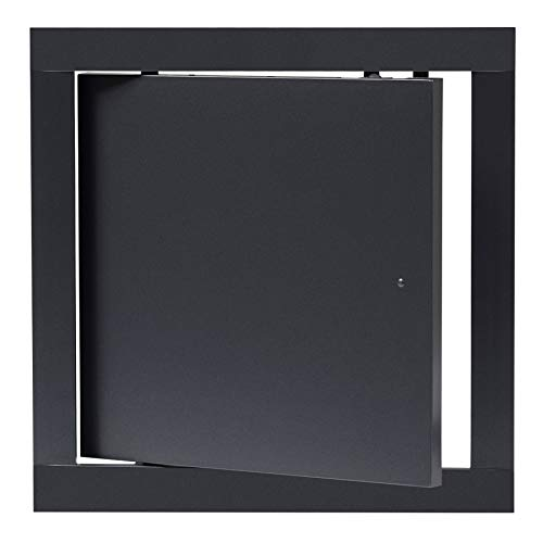200x200 mm Revisionsklappe Anthrazit Revisionstür Wartungstür Inspektionsklappe aus Kunststoff 20x20 cm