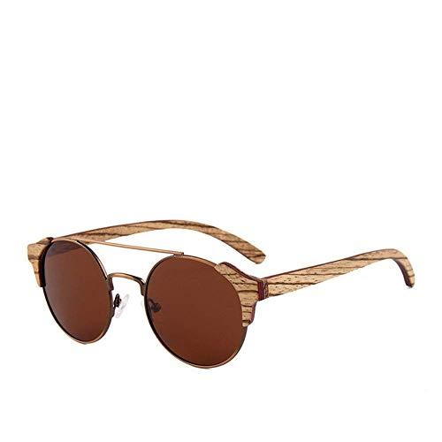 Tclothing Sonnenbrillen Holzrahmen Polarisierte Sonnenbrille Frauen Männer UV400 Geschütztes Sonnenglas, Grün