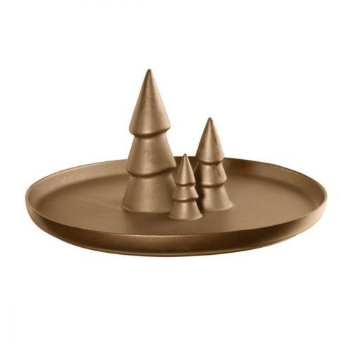 ASA Assiette, Céramique, Doré, 30 cm cm