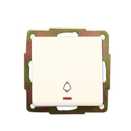 Evila - Pulsador empotrar luminoso campana 56x56 blanco