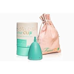 FemaCup Menstruationstasse Größe M (25-30 ml) – 100% Made in Germany – BPA-frei – geruchlos – medizinisches Silikon – Alternative zu Tampons und Binden