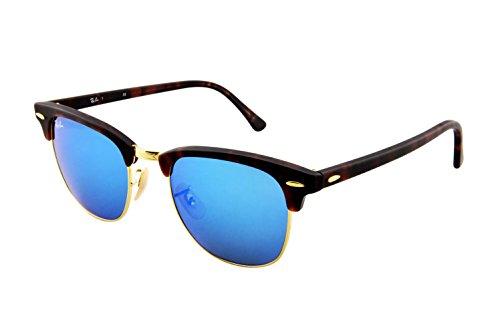 ray-ban-clubmaster-gafas-de-sol-para-hombre-marrn-marco-havana-vidrio-azul-flash-114517-51-milmetros