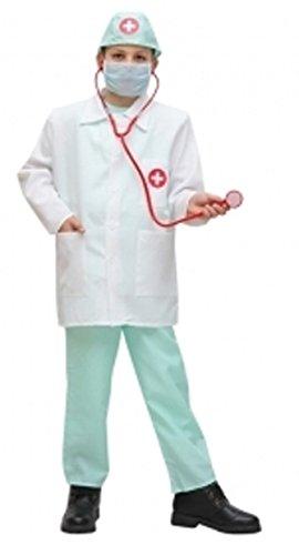 Novità vestiti carnevale travestimento maschera cosplay halloween gioco personaggio film dottore house infermiere crocerossa pronto intervento con casacca pantalone cappello stetoscopio tg l