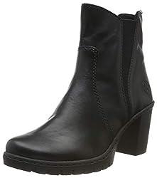 Rieker Damen Y2554 Chelsea Boots, Schwarz (schwarz / 01 01), 37 EU