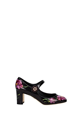 CD0541AC687HN26E Dolce&Gabbana Talon Femme Cuir Noir Noir