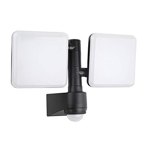 Chestele Dual Kopf Bewegungs Sensor Flutlicht, 20W LED Strahler mit einstellbarem Bewegungsmelder, 1800lm, 5000K Tageslichtweiß, IP54 Wasserdichtes, gilt für Eingänge, Treppen, Garten, Hof und Garage -