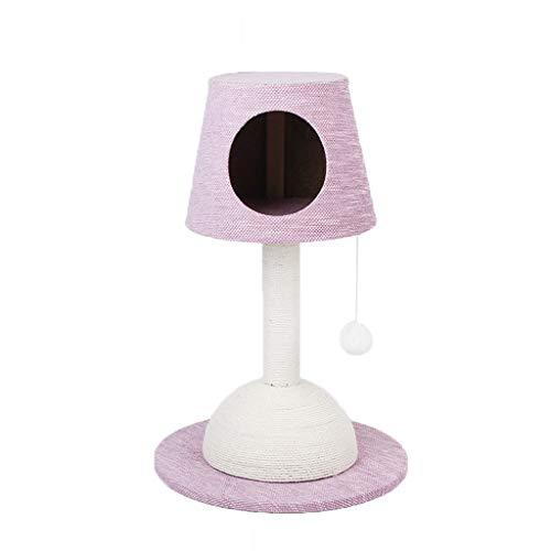 Moolo Kratzbäume Katze-Klettergerüst, Chenille-Gewebe Sisal-Katzen-Baum-Turm-Abnutzung und Kratzer beständig Mehrfarben wahlweise freigestellt Katzen häuser (Farbe : Pink) -
