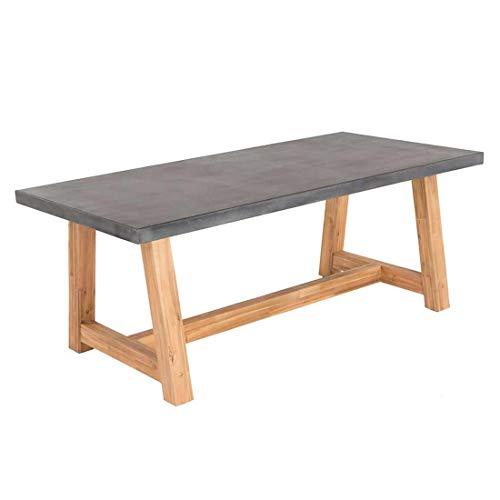 OUTLIV. Gartentisch Veltis Gartentisch 250x100 cm Akazie/Beton Outdoor Tisch