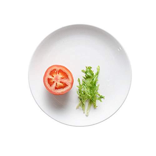 Mode Reine Weiße Runde Platte Steak Platte Keramikplatte Knochen Frühstück Mahlzeit Küche Haushaltsgeschirr Platte -
