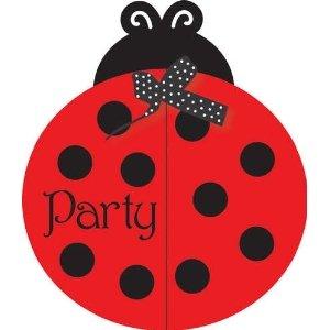 Creative Converting Fancy Geburtstag Party-Einladungen, für Kinder, Marienkäfer, 8 Stück, mit passenden Kuverts