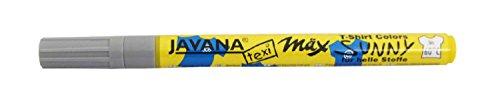 Kreul 90670 - Javana Texi Mäx Sunny fine, Stoffmalstift für helle Stoffe und Textilien, waschecht nach Fixierung, mit unempfindlicher Spitze ca. 1 - 2 mm, grau