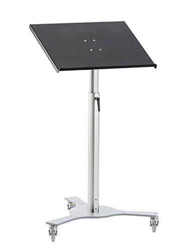 Stehpult TRIPOD-Metall fahrbar, neigbar & stufenlos höhenverstellbar von 85 bis 128 cm
