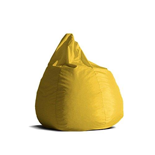 Pouf-poltrona-sacco-media-BAG-L-Jive-tessuto-tecnico-antistrappo-giallo-limone-imbottito-Avalon