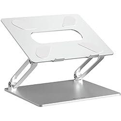 BoYata Support Ordinateur Portable, Support pour MacBook: Sable Multi-Angle Support Refroidissement, Compatible avec Les Ordinateurs Portables (10-17 Pouces), y Compris MacBook Pro/Air, HP (Argent)