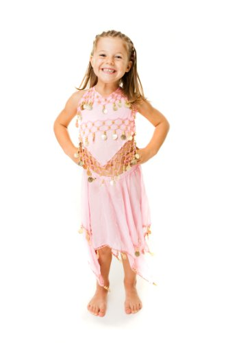 Turkish Emporium Bauchtanz Kinder Mädchen Kinder Outfit Kostüm pink