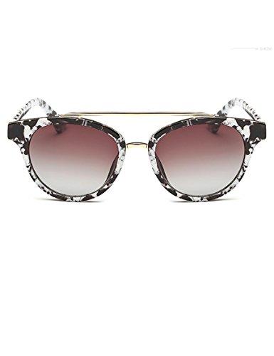 Metallo doppio trave occhiali da sole uomini e le donne da sole moda colorata riflettenti Occhiali da sole polarizzati ( colore : 3 )