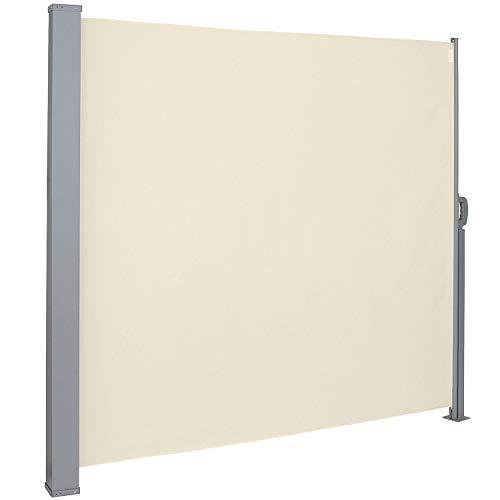 MCTECH Seitenmarkise Zertifiziert Sonnenschutz Sichtschutz Windschutz Terrasse Markise Polyester (2 * 3m, Beige)