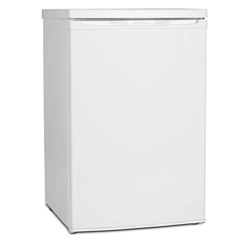 MEDION MD 37052 Kühlschrank mit Gefrierfach (118L Nutzinhalt, 103L Kühlteil, 15L Gefrierteil, wechselbarer Türanschlag) weiß - Mini-kühlschrank Transparent