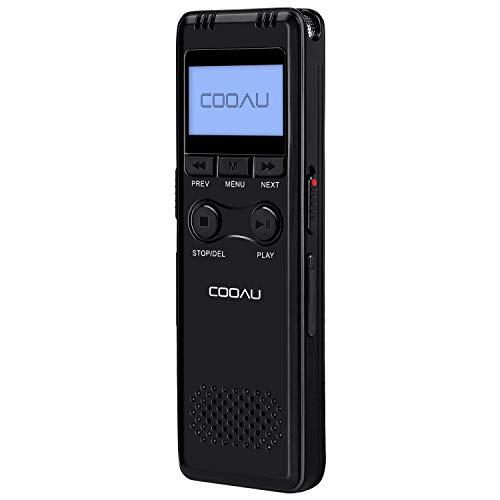 COOAU Grabadora de Voz Digital Portátil, 8GB