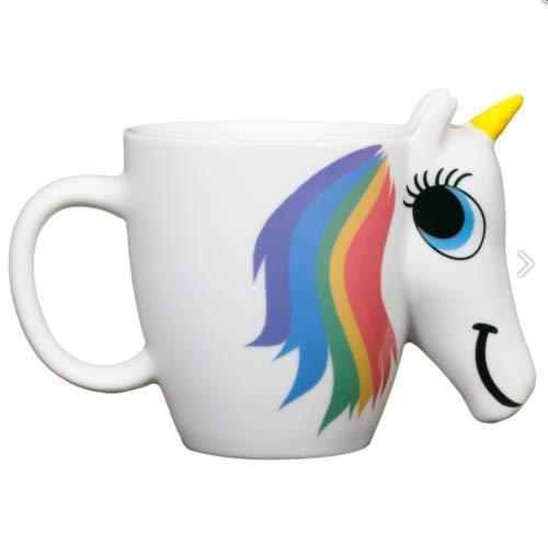 Arcoiris Unicornio Cambia de Color Taza Calor Sensible Taza de Café Cumpleaños/Regalo Navidad
