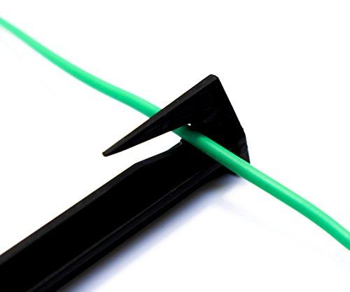 50 Stück SHS Haken Erdspieße für Mähroboter Zubehör SET Befestigung für Begrenzungskabel Suchkabel Kabelhalter/GARDENA / BOSCH/HUSQVARNA / WORX/HONDA / ROBOMOW/iMow - 4