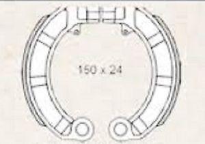 Mâchoires de frein pour pIAGGIO vespa pX 125 - 150 cc 225120570