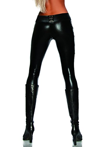 Wetlook-Leggings von SARESIA S (Leder Snake Leggings)