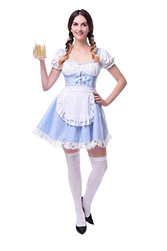Damen Deutschland Oktoberfest Kleid Kellnerin Maid Kostüm Plus Size (EU 38, (Kostüme Plus Wench Größe)