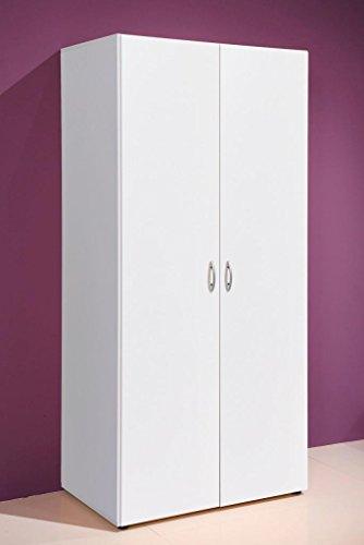 Kleiderschrank BASE 2 Türen, Weiß, universell einsetzbarer Schrank -