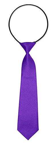 Kinderkrawatte Krawatte Kinder Jungen Gummiband gebunden dehnbar Konfirmation Taufe lila