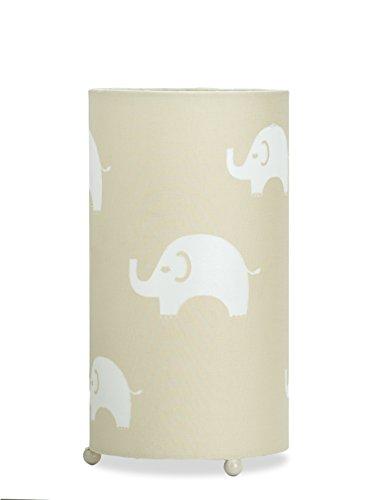 Aratextil Fauna Lampe de Table, Coton, Beige, 24.5 x 13 cm