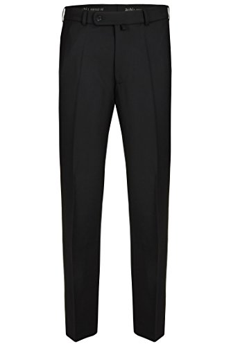 aubi: Herren Businesshose Anzughose Flat Front Modell 29 schwarz Größe 52
