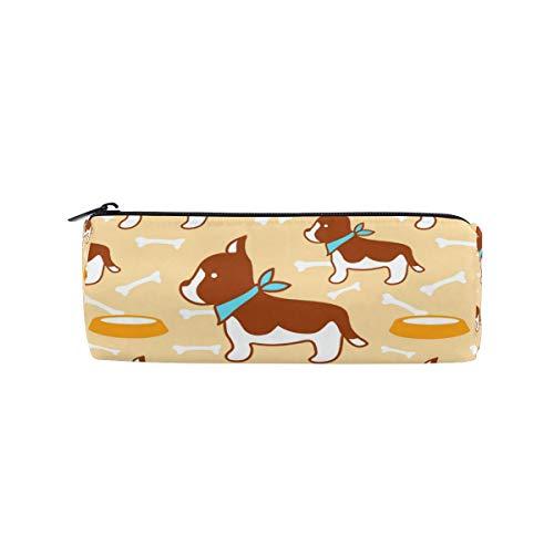 MalpLENA Make-up-Tasche für Haustiere, Hund und Knochen, rund -