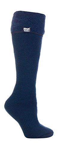 Heat Holders Damen Thermo-Socken für Gummistiefel 37-42 eur (Indigo) (Socken Knie Plus Hoch Größe)
