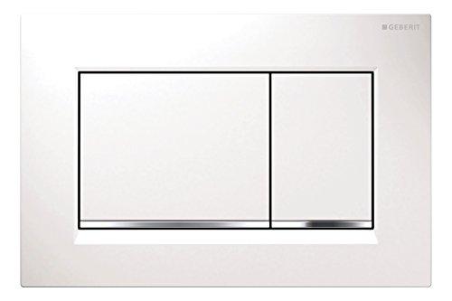 Geberit - Placca di comando Sigma 30, 1 pezzo, colore bianco, 115883KJ1