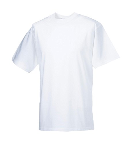 Russell Collection Klassisches schweres T-Shirt R-215M-0 White