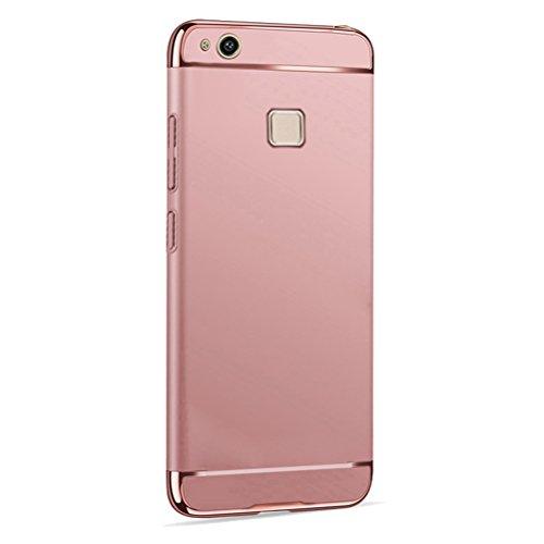Cover Huawei P10 Lite, Bestsky Custodia Huawei P10 Lite 3 in 1 Alta Qualità Ultra Sottile Protettiva in Plastica Duro PC Shell Piena Protezione per Huawei P10 Lite, Silky Rose Gold