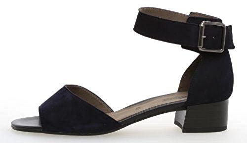Gabor Fashion, Sandali con Cinturino alla Caviglia Donna Blu (Bluette)