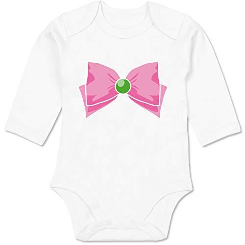Karneval und Fasching Baby - Superheld Manga Jupiter Kostüm - 12-18 Monate - Weiß - BZ30 - Baby Body Langarm (Superheld Kostüm 12 18 Monate)