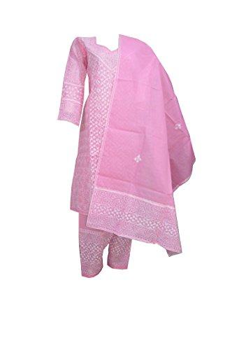 eco haat Vibrant Cotton Embroidered Unstitched Salwar Suit Dress Material [PNKPWDM10]