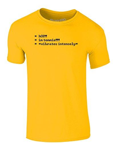 Brand88 - I'm Tem, Erwachsene Gedrucktes T-Shirt Gänseblümchen-Gelb/Schwarz