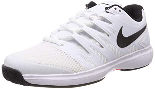 Nike Air Zoom Prestige HC, Scarpe da Tennis Uomo, Mehrfarbig (White/Black-Bright Crimson 106), 46 EU