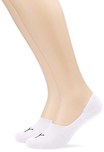 Puma Damen Socken Footie 2er Pack, White, 39 - 42, 141011001