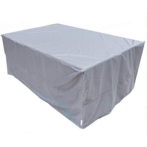 JIANFEI Housse Protection Salon De Jardin Imperméable Anti-soleil Table Chaise, 11 Tailles 3 Couleurs Personnalisable (Couleur : Gray, taille : 106x106x50cm)